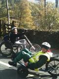 Abbie and Jakki on bikes!